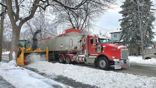 First Snow Removal in Montreal Canada Winter 2021! #snowremoval #snow #montrealsnowremoval