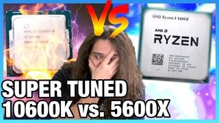Предельная настройка AMD R5 5600X vs. i5-10600K: разгон памяти и процессора
