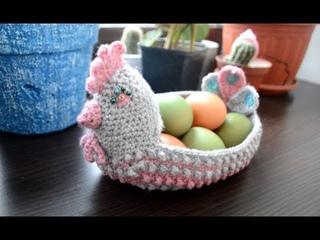 ПАСХАЛЬНАЯ КУРОЧКА крючком: вяжем корзинку к Пасхе - Easter chicken Crochet