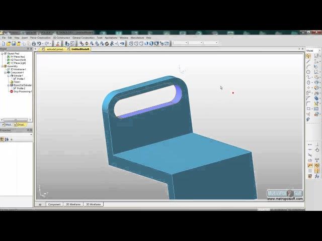 Edgecam Part Modeler Extrude 2