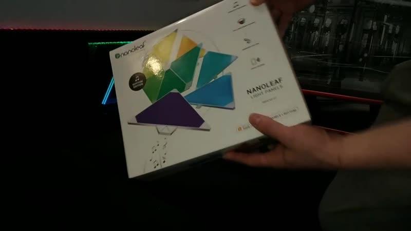 Nanoleaf Light Panels умный светильник с модулем Nanoleaf Rhythm
