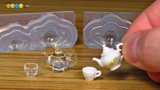 DIY Miniature Tea Set ミニチュアティーセット作り