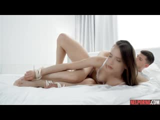 Izzy  in various positions substitutes ass for anal sex