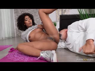 Misty Stone - Hot Workout With A Cock Ending [, All Sex, Bubble Butt, MILF, Athletic, Ebony, Bald Pussy]