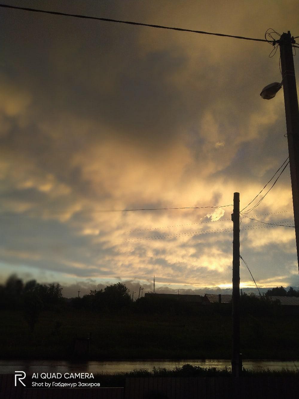 После дождя закат.