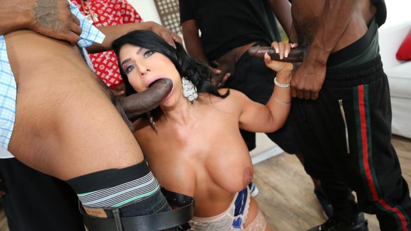 Blacks On Blondes Raven Hart HD 1080, 5 on 1, Anal, ATM, Big Tits, Black, Blowjob, Facial, Gangbang,
