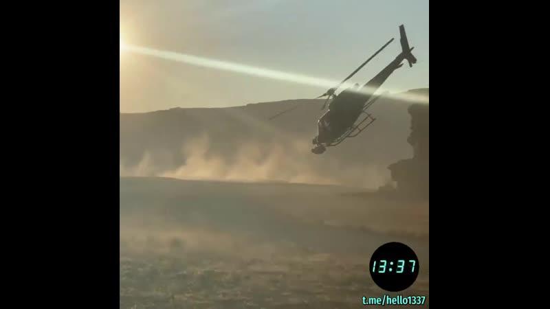 Высший вертолётный пилотаж во время киносъёмок