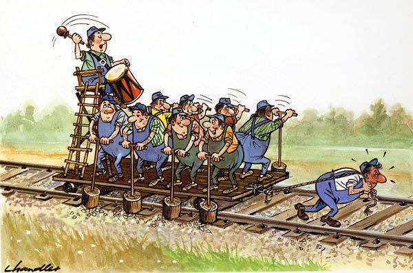 расскажет, картинки с юмором железнодорожные редко дело доходит