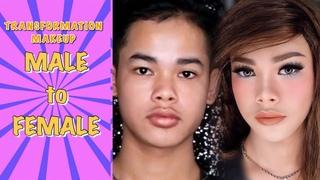 Transformation Makeup Tutorial MALE to FEMALE  Indonesia | ARI IZAM