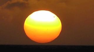 Sunset Bonaire with planet Venus Between Sun And Earth June 5, 2012 - Transit of Venus