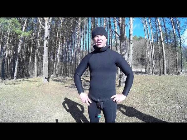 Подводная охота на реке Каспля 20 03 2016