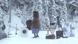 Вирусная реклама! Медведь и стиральная машина!