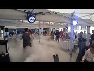 Тяжёлый дым и световое оформление от Showpskov.