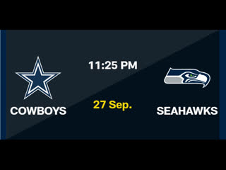 NFL 2020-2021, Week 03, Dallas Cowboys - Seattle Seahawks, RU, Viasat Sport HD