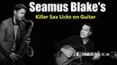 Incredible SEAMUS BLAKE jazz licks on GUITAR