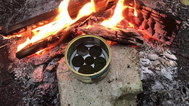 Правильная методика варки медных монет в вазелиновом масле