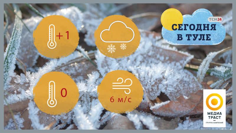 В Тульской области 27 ноября музыкальные осадки