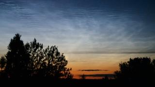 Noctilucent cloud / Серебристые облака. 24 июля 2021