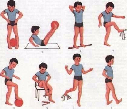 Упражнения детям при плоскостопии с картинками