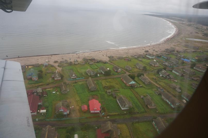 Деревня Лопшеньга из окна АН-2