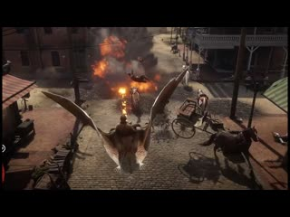 RDR2 - Monster Bat spitting fire in Red Dead Redemption 2