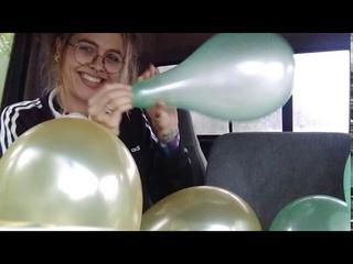Balloon Challenge FILL THE CAR WITH  BALLOONS Calming ASMR Fun In The Rain