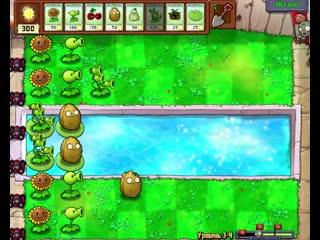 с вами джам и мы продолжаем играть Plants vs. Zombies зомби  уменьшились