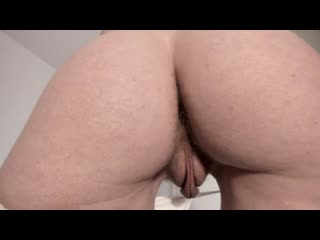 Close Up of Hairy Meaty Pussy and Asshole in tiny Panties