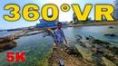 360° VR Long Beach Walk Tour Famagusta Visit North Cyprus Buy a Property 5K 3D Virtual Reality HD 4K