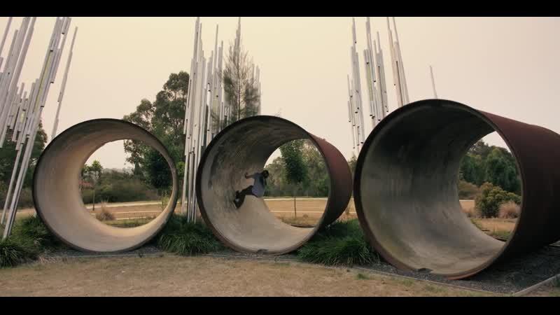 Joe Atkinson Double Loop Rollerblading