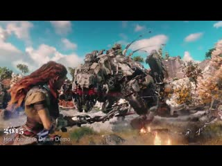 Evolution of Horizon Zero Dawn 2011-2021