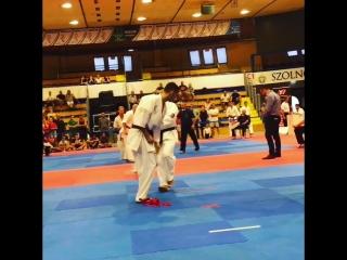 Araslan dzhafarovvazari kyokushin karate european open szolnok cup 2018🇭🇺