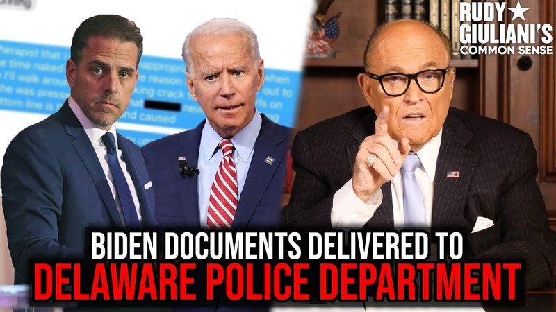 Incriminating Biden Documents Delivered To Delaware Police Department Rudy Giuliani Ep 79
