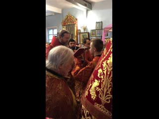 Фрагмент Божественной литургии в храме Святой Великомученицы Варвары