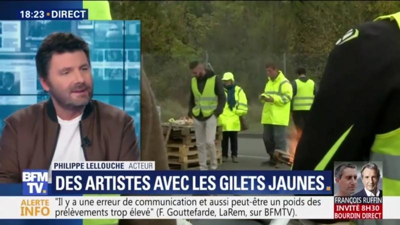 GILETS JAUNES LE COMEDIEN GILLE LELOUCH S'ENGAGE AVEC LES GILETS JAUNES 11 2018