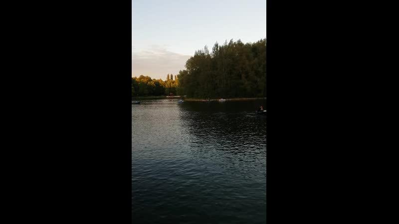 Парк Измайлово Москва озеро закат
