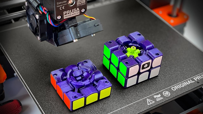 Сделал КУБИК РУБИКА НА 3D ПРИНТЕРЕ полностью функционирующий скоростной 3х3 3Д печать