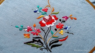 Cute Japanese Hand Embroidery Designs,Flower Embroidery,Embroidery,Secrets of Embroidery-31, #Miss_A