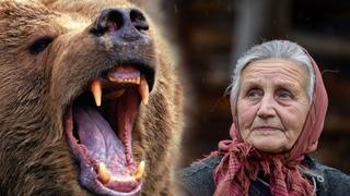 Вышел медведь, заревел страшно, лапой замахнулся, а пёс выбежал вперёд и..