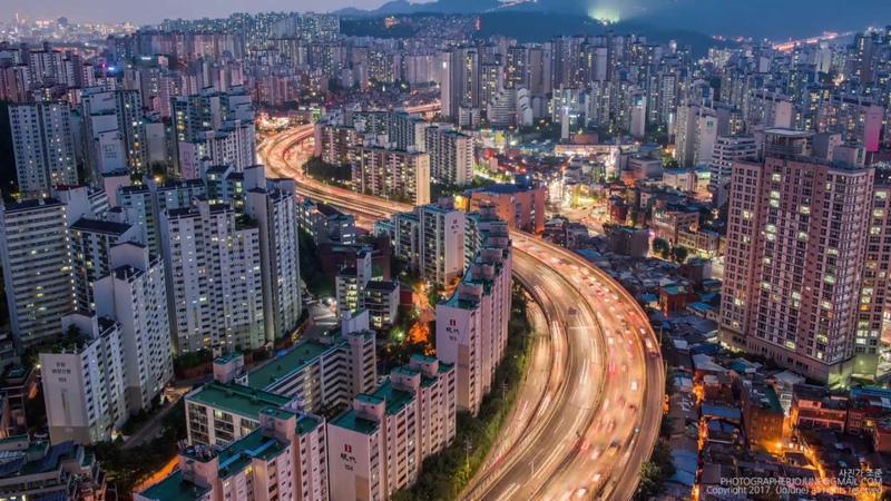 서울의 하루 타임랩스(A day in seoul timelapse)