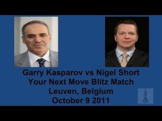 Garry Kasparov vs Nigel Short Chess Blitz Game 1