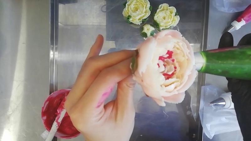 Цветы из масляного крема Глазурь Buttercream flowers Запись эфира 05 04 2019