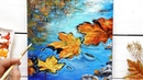 ✨''Welcome Autumn'' 🍁🍂Paint Floating Autumn leaves with me / Step by step Easy Technique
