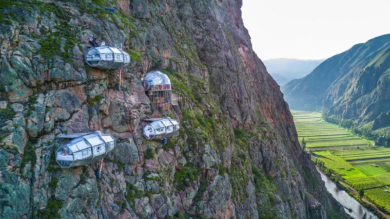 SKYLODGE ADVENTURE SUITES Cusco Peru Via Ferrata Climbing Zipline by Natura Vive