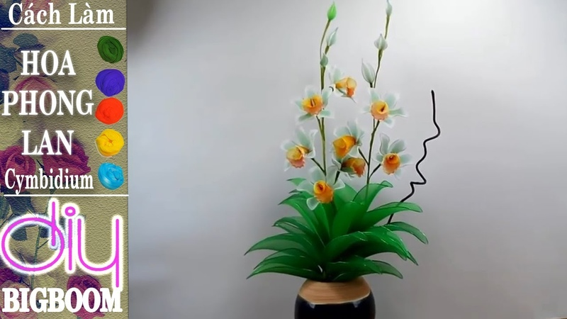 Hướng dẫn cách tự làm Hoa Phong Lan Cymbidium bằng vải voan để trang trí DBB VN