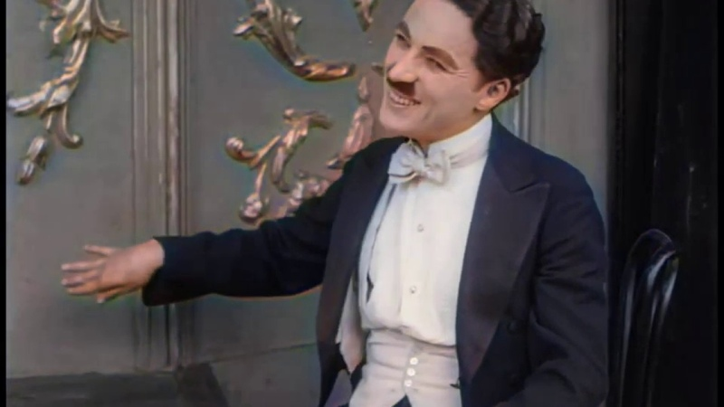 A Night in the Show 1915 Charlie Chaplin color