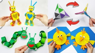 6 DIY paper crafts Moving paper TOYS  Easy paper crafts