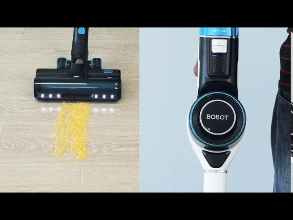 BOBOT Handheld Cordless Vacuum Cleaner OLED AUTO Dust Identify 24 KPa 3 in 1 Function