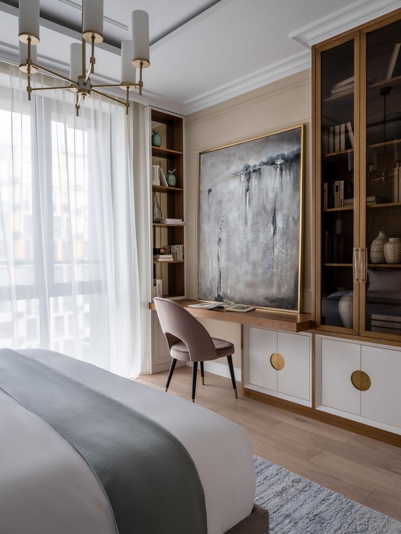 Благородный серый и яркие акценты: квартира в Москве от студии Rubleva Design || 02