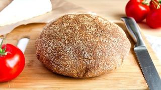 Простой 100% Цельнозерновой Хлеб🍴Ржаная + Пшеничная цельнозерновая мука - очень Вкусный и Сытный!
